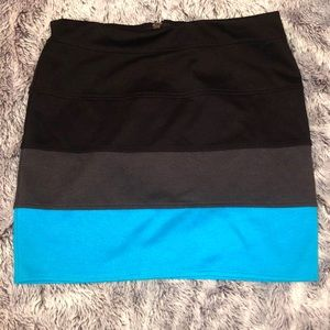 Candie's Multi Color ZIP-Up Mini Skirt